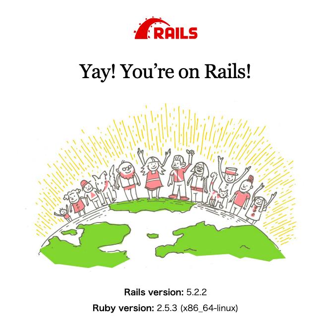 Railsサーバが正常に起動している際の表示