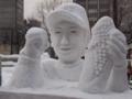 [札幌雪まつり]札幌雪まつり 佑ちゃん雪像