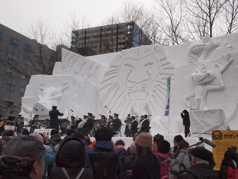 札幌雪まつり 大雪像 ライオンキング