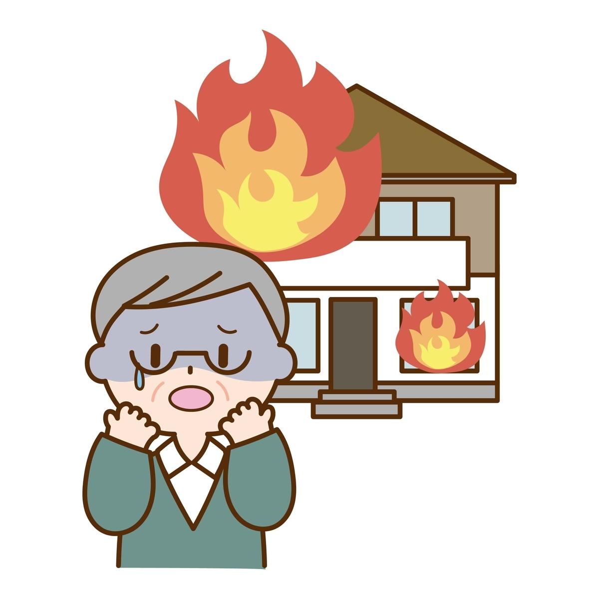 自分の家が火元になり隣人の家も燃えてしまったら?