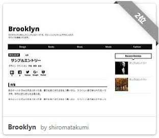 はてなブログおすすめのテーマ【Brooklyn】