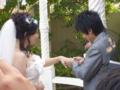 2010年9月25日(土)新郎・新婦指輪の交換