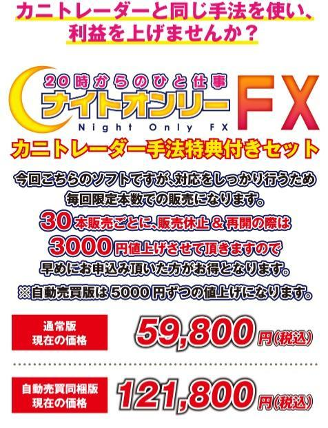 ナイトオンリーFX自動売買カニ手法セット