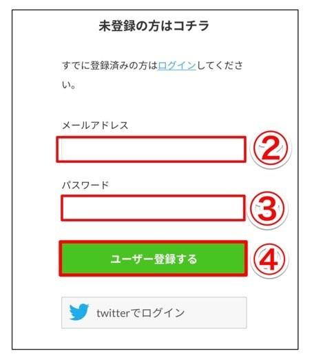みんブロ ユーザー登録画面