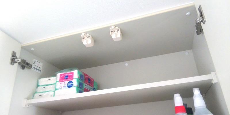 コンパクトなキッチンペーパーの収納の画像