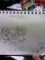 [ポポロクロイス][ポポロクロイス物語]ポポロ関東オフで色々な方が描いたもの。(メモ帳の持ち主はToporoさん