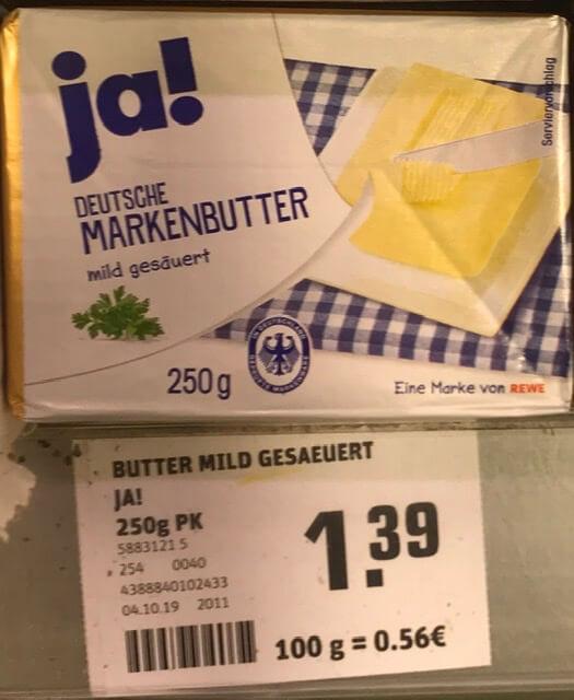 ドイツ バター
