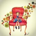 ちなつちゃんと赤い椅子