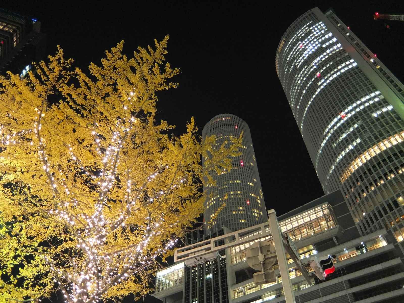 名古屋駅セントラルタワーのイルミネーション