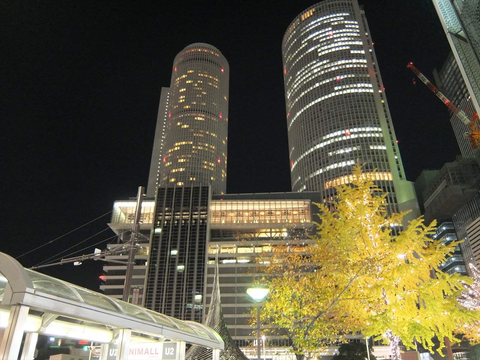 名古屋站的聖誕節燈飾