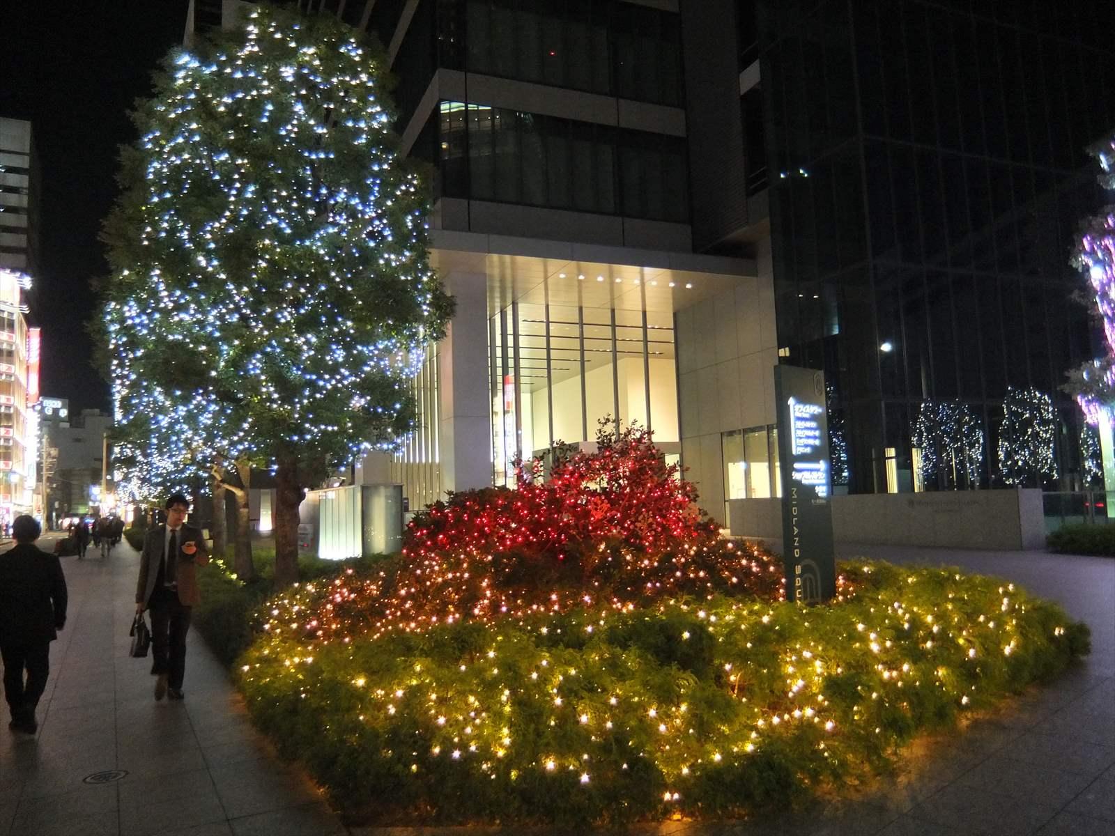 中部地方廣場大廈的聖誕節燈飾