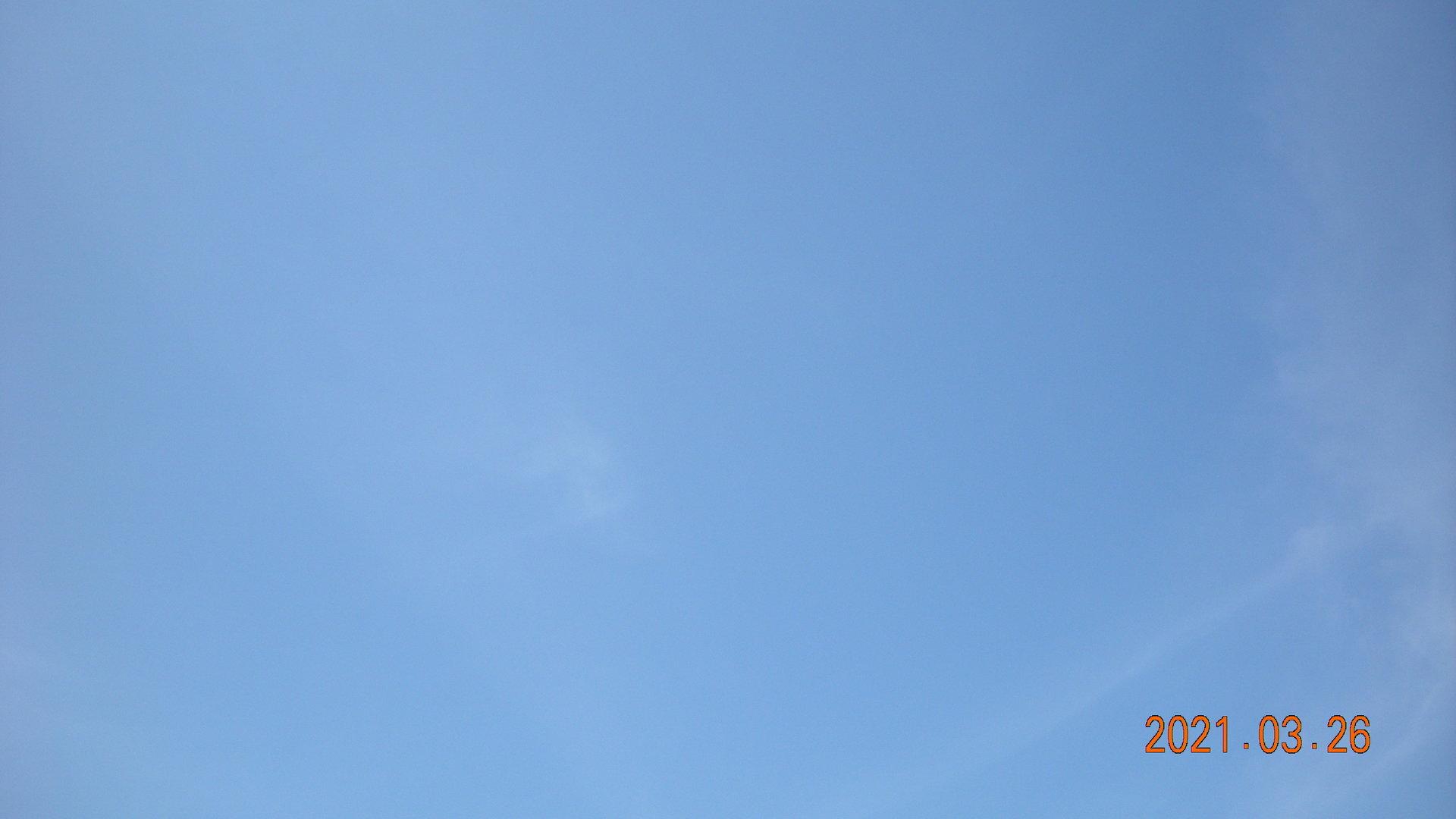 快晴の青空