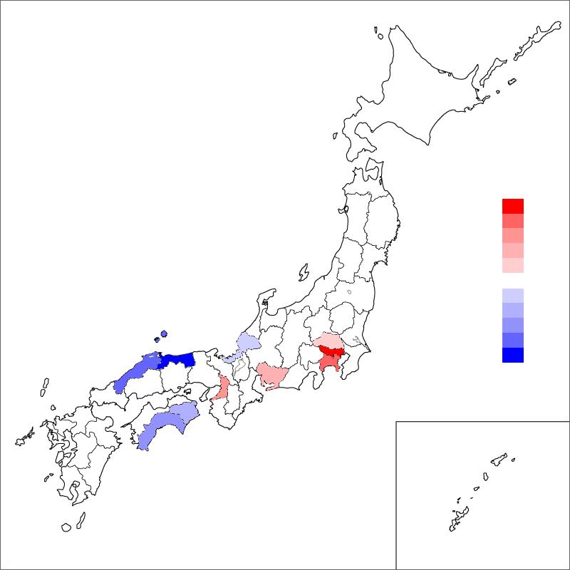 都道府県別の人口