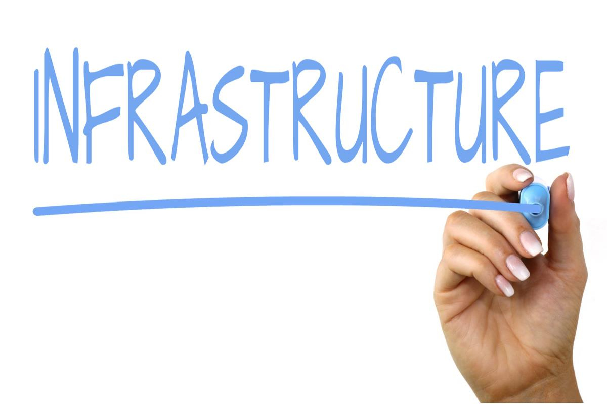 手書き文字「Infrastructure」の写真