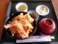 しろえびのかきあげ丼 in カモンパーク新湊