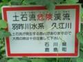 久江川・土石流警告