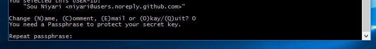鍵を保護する為のパスワードを入力