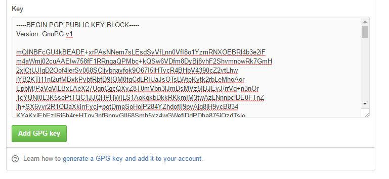 githubにGPG keyを登録