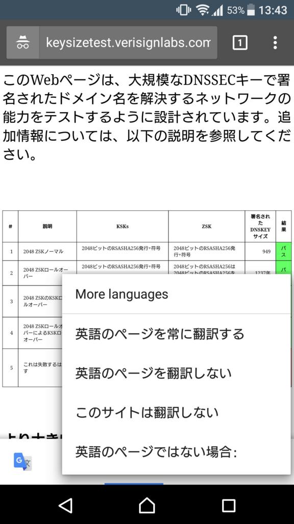 翻訳ダイアログ 詳細設定