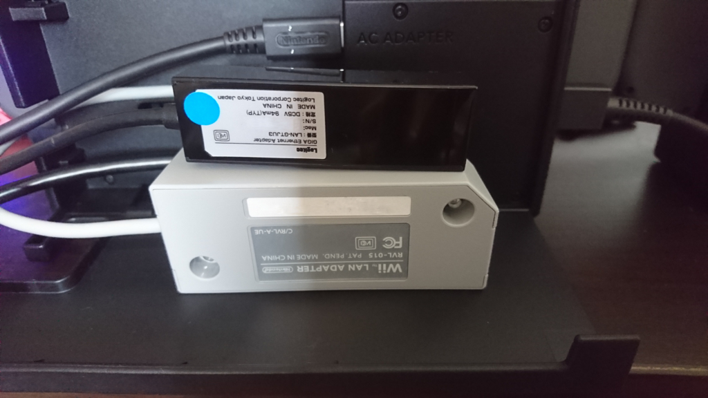 WiiのLANアダプターとの比較