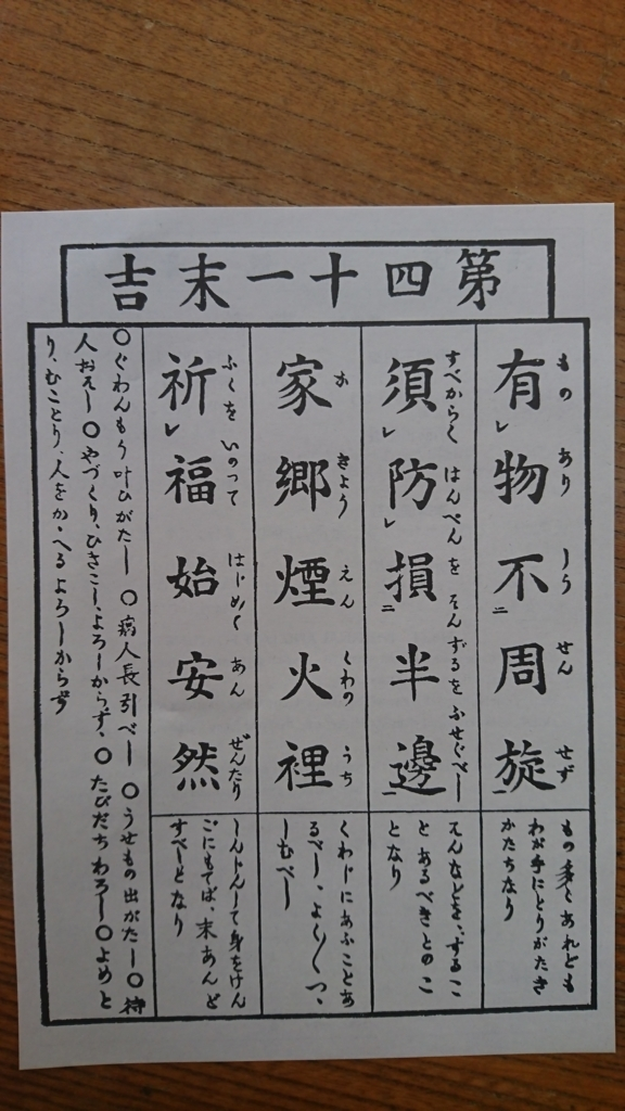 浅草寺のおみくじ