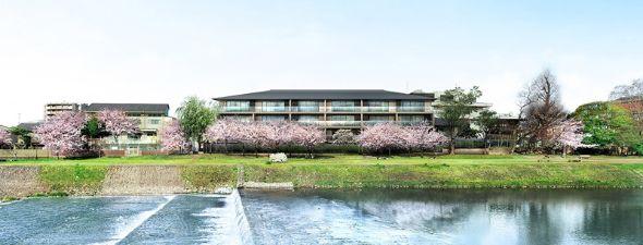 「ザ・パークハウス 京都鴨川御所東」本館の完成予想図