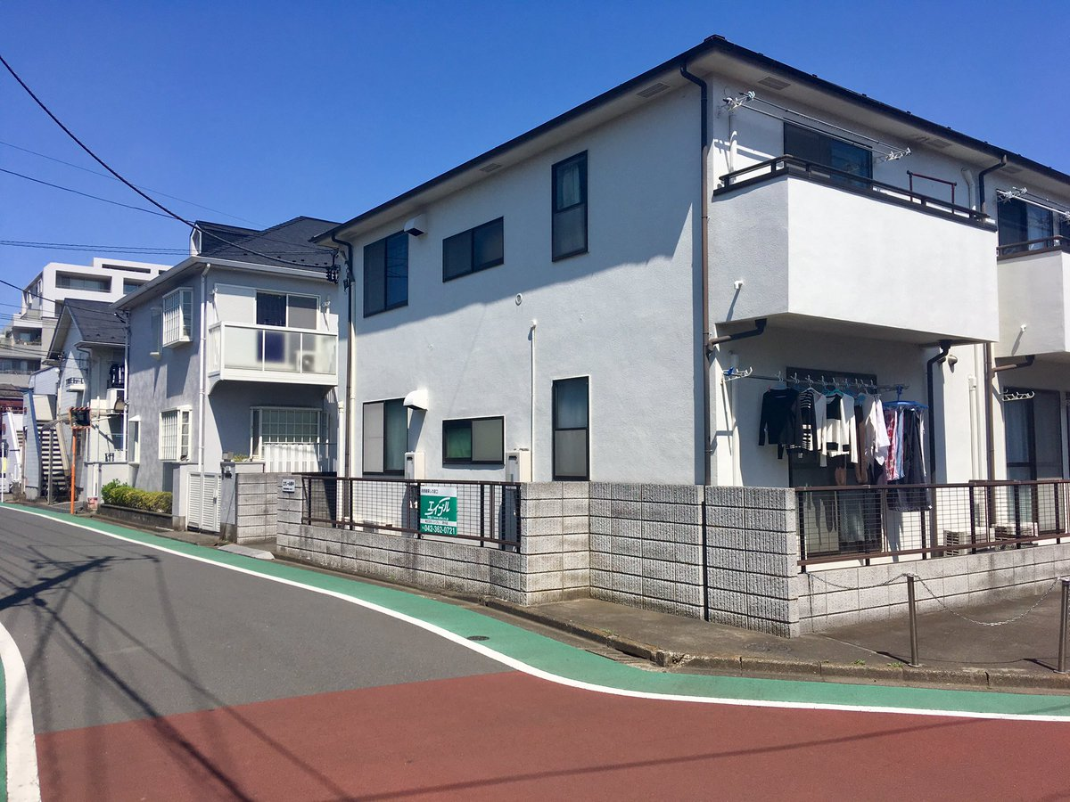 府中駅北口から徒歩10分付近のアパート群