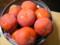 庭で収穫した柿