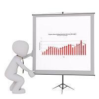株価チャートの分析イラスト