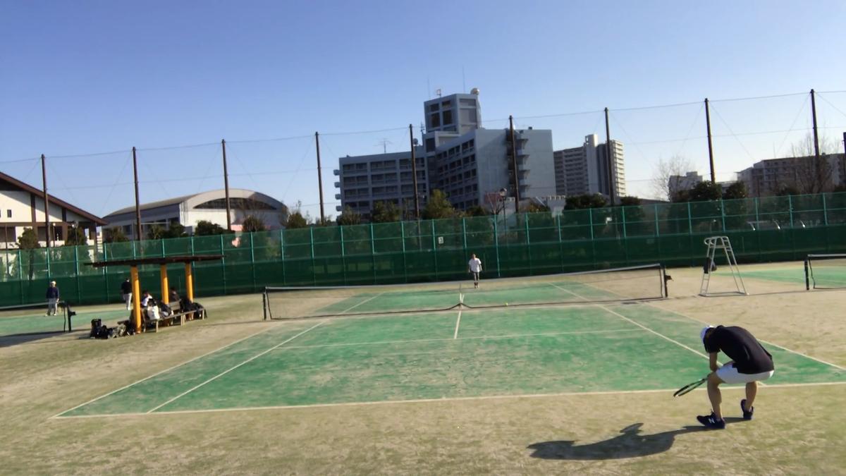 第1回目のテニス部の活動の様子