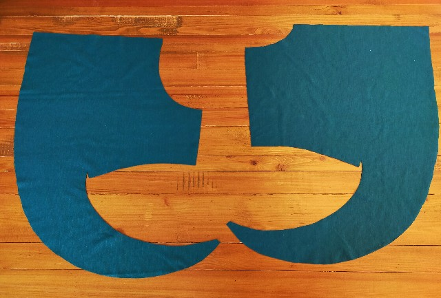ハンドメイドの洋裁のバタフライスリーブの縫い方