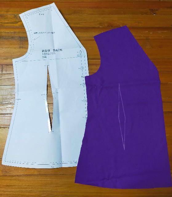 洋裁のハンドメイドのダーツの縫い方