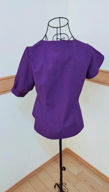 レディースの紫のお洒落な綿のシャツ