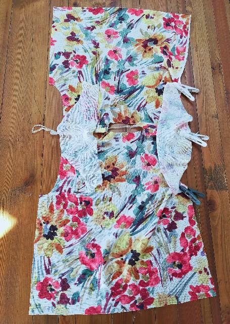 ニットソーイングの袖の縫い方