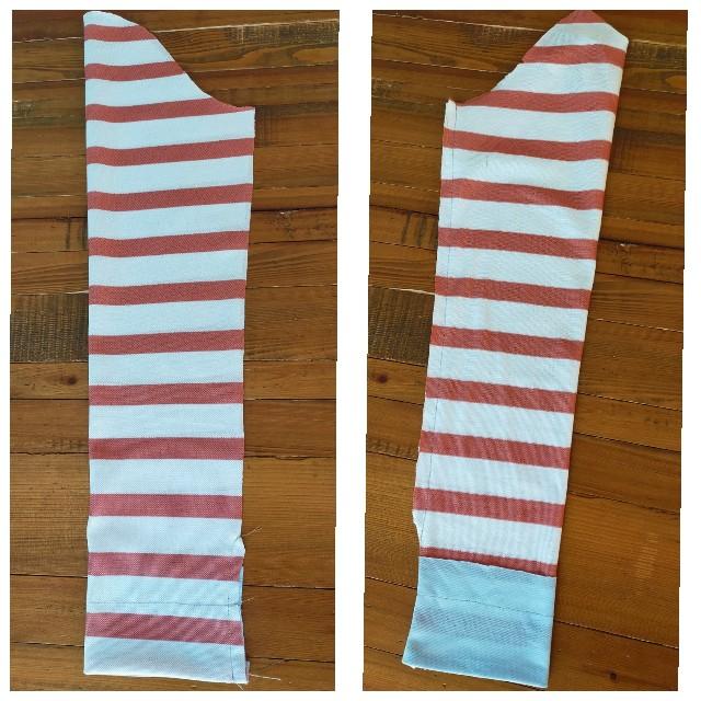 カーディガンの袖下の縫い方