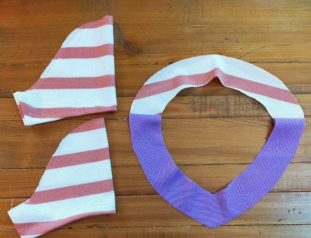 袖と見返しの洋裁のニットソーイングの縫い方