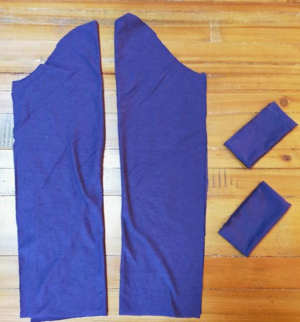 洋裁のハンドメイドのニットソーイングの袖と袖口の縫い方