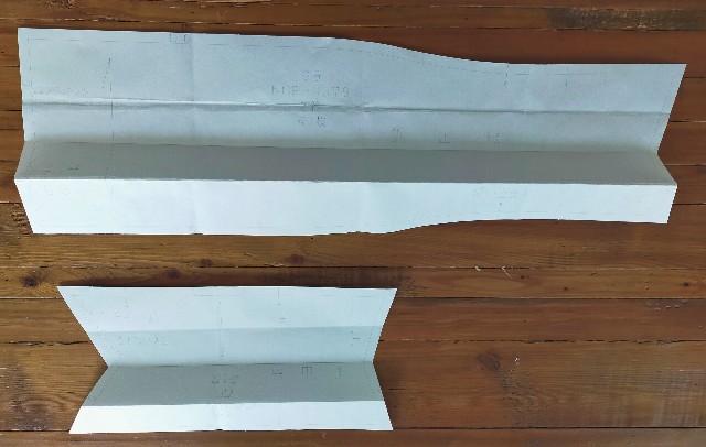 リボンの衿の型紙補正