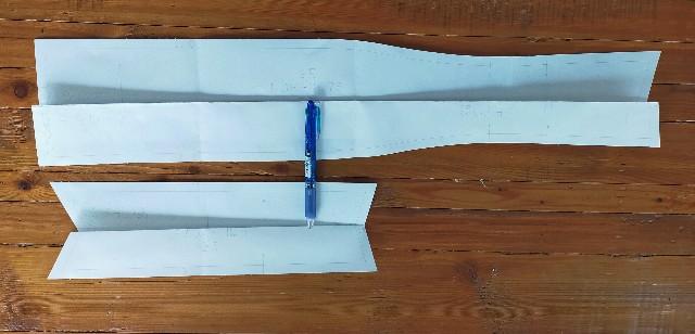 衿の型紙補正