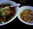 B定食(手もみラーメン+半チャーハン)@福しん北口店