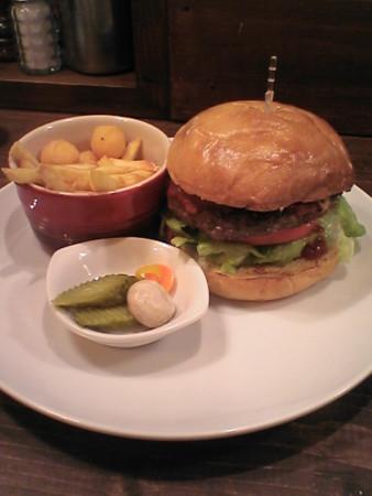 イーストビレッジのハンバーガー