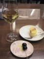 白ワインとチーズケーキ@ジュンク堂カフェ