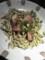若鶏のガーリックソース&ズッキーニと海老のカルガネッリ