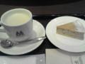 カフェラテS&メープルナッツチーズケーキ@モリバコーヒー