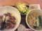 焼肉丼塩ラーメンセット豆腐サラダつき@デニーズ