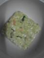 ローカロ生活の緑黄色野菜と玉子の雑炊