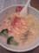 あさりクリーム平打麺 クルトンが入ってる ¥880
