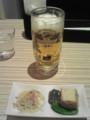生ビールセット小鉢二皿付いて¥600@Times SPA RESTA