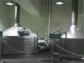 試作用のミニブルワリーの煮沸釜