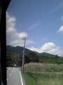 尾白川に向かうバスの車窓から